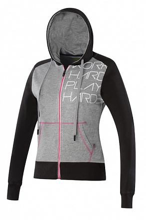RESEARCH SS BF MORENA FELPA LADY C/CAP FULL ZIP GRIMEL/BLK